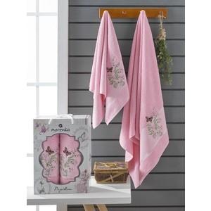 Набор из 2 полотенец Merzuka Papillon (10169 розовый)