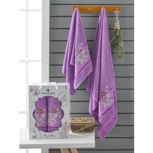 Набор из 2 полотенец Merzuka Papillon (10169 фиолетовый)