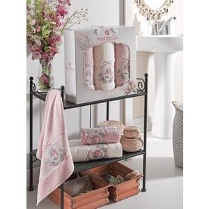 Набор из 3 полотенец Merzuka Rose махровое 50x80/70x130 (9333 розовый)