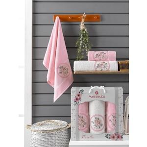 Набор из 3 полотенец Merzuka Fiorella (10168 розовый)