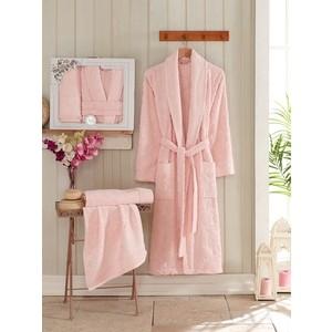 Набор из халата и 2 полотенец Philippus Asiya (10132 розовый)