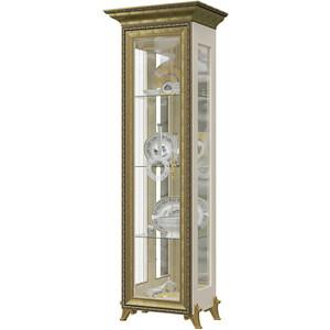 Шкаф 1-дверный Мэри Версаль ГВ-01 без короны №1 слоновая кость