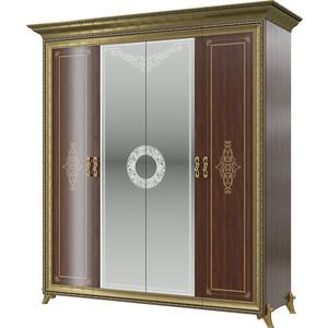 Шкаф 4-х дверный Мэри Версаль СВ-01 без короны № 3 орех тайский