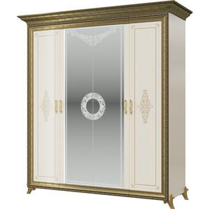 Шкаф 4-х дверный Мэри Версаль СВ-01 без короны № 3 слоновая кость