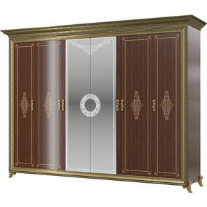Шкаф 6-ти дверный Мэри Версаль СВ-02 без короны № 3 орех тайский