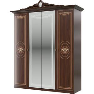 Шкаф 4-х дверный Мэри Грация СГ-02 орех тайский