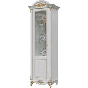 Шкаф 1-дверный левый Мэри Да Винчи ГД-01 патина белый