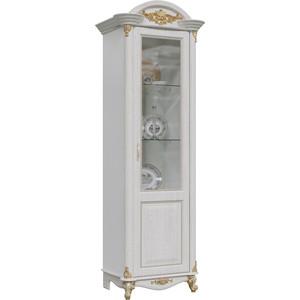 Шкаф 1-дверный правый Мэри Да Винчи ГД-02 патина белый