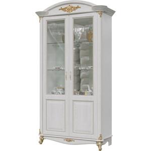 Шкаф 2-х дверный Мэри Да Винчи ГД-04 патина белый