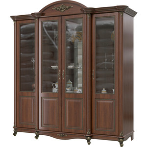 Шкаф 4-х дверный Мэри Да Винчи ГД-05 орех