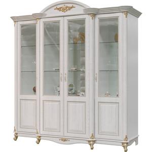 Шкаф 4-х дверный Мэри Да Винчи ГД-05 патина белый фото
