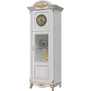 Шкаф с часами Мэри Да Винчи ГД-08 патина белый