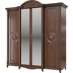 Шкаф 4-х дверный Мэри Да Винчи СД-01 орех