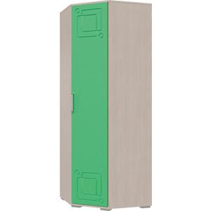 Шкаф угловой Мэри Индиго И-11 дуб выбеленный/салатовый