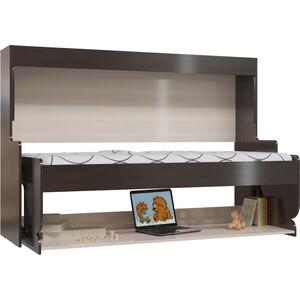 Стол-кровать Мэри МК-0 дуб молочный/дуб венге