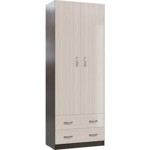 Шкаф с ящиками Мэри МК-3 дуб молочный/дуб венге