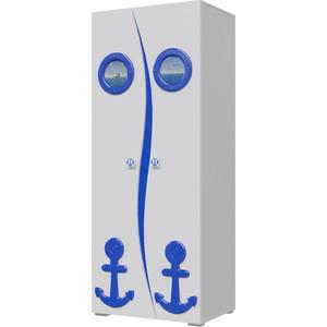 Шкаф Мэри Парус П-1 белый/синий цена