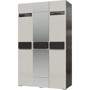 Шкаф 3-х дверный с зеркалом Мэри Престиж СП-03 венге цаво/жемчужный лён шкаф 1дв прав 450х315х960мм заказ дуб родди j лён