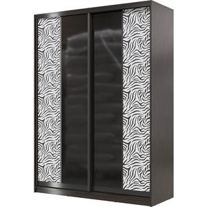 Шкаф-купе Мэри Сан-Ремо СР-01-1600 венге цаво/двери стекло черный глянец