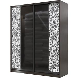 Шкаф-купе Мэри Сан-Ремо СР-01-1800 венге цаво/двери стекло черный глянец