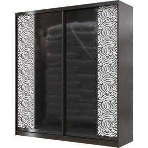 цена на Шкаф-купе Мэри Сан-Ремо СР-01-2000 венге цаво/двери стекло черный глянец