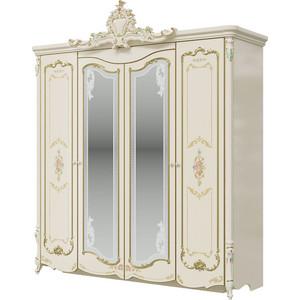 Шкаф 4-х дверный Мэри Шейх СШ-01 слоновая кость стоимость
