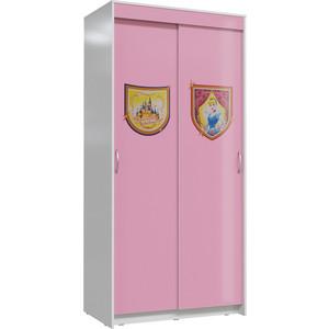 Шкаф Мэри Принцесса розовый/белый купе