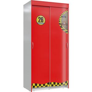 Шкаф Мэри Формула красный/светло-серый купе