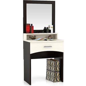 Столик туалетный с зеркалом Мебельный двор Белла венге/дуб