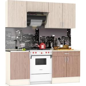 Кухня Мебельный двор Мери 1,92 дуб/ясень шимо светлый/ясень шимо темный (ШВ-500+ШВв-600+ШВ-800, ШНМ-500+ШН1Я-800)
