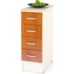 Стол с 4-мя ящиками Мебельный двор Мери ШН4Я300 дуб/вишня