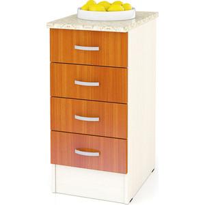 Стол с 4-мя ящиками Мебельный двор Мери ШН4Я400 дуб/вишня
