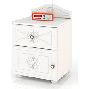 Тумба прикроватная Мебельный двор Онега ТП-1 белый