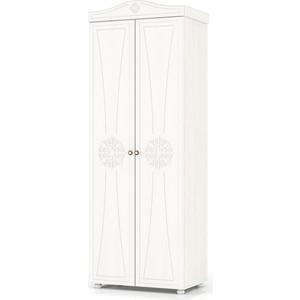 Шкаф платяной 2-х створчатый Мебельный двор Онега белая ШК-31 белый шкаф мебельный меткон шм 50 серый 50 х 35 х 31 см