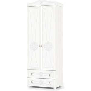 цена на Шкаф платяной 2-х створчатый с двумя ящиками Мебельный двор Онега белая ШК-32 белый