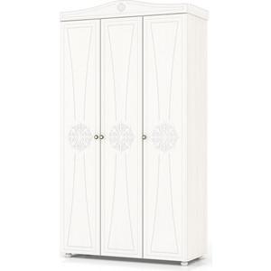 Шкаф 3-х створчатый комбинированный Мебельный двор Онега белая ШК-33 белый
