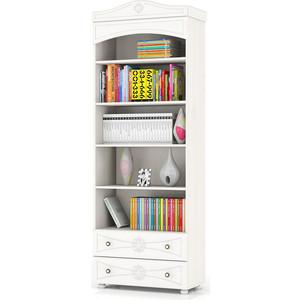 Шкаф книжный открытый с двумя ящиками Мебельный двор Онега белая ШК-36 белый шкаф книжный мебель смоленск шк 04