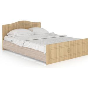 Кровать Мебельный двор Онега лён КР-1400 лён/ясень шимо светлый