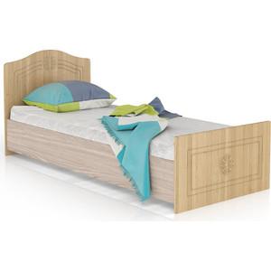 Кровать Мебельный двор Онега лён КР-800БЯ лён/ясень шимо светлый фото