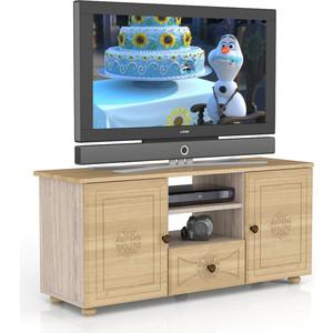 Тумба ТВ Мебельный двор Онега лён ТВ-10 лён/ясень шимо светлый фото