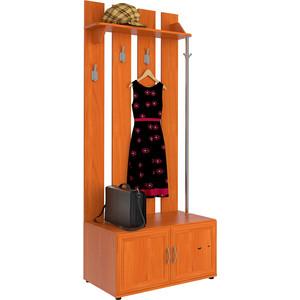 Прихожая Мебельный двор С-МД-П1-В-Т вишня (вешалка П1 с тумбой)