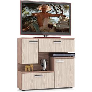 Тумба ТВ Мебельный двор С-МД-С1-1000 ясень шимо светлый/ясень шимо темный комод мебельный двор с мд к8 ясень шимо темный ясень шимо светлый