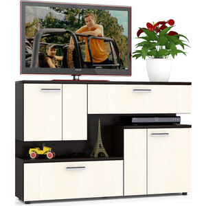 Тумба ТВ Мебельный двор С-МД-С1-1400 дуб/венге