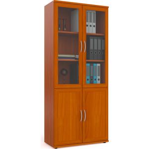Фасады для шкафа Мебельный двор С-МД-2-03 шкаф книг со стеклом, вишня
