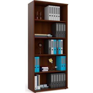 Шкаф для книг открытый Мебельный двор С-МД-2-01 орех цена и фото
