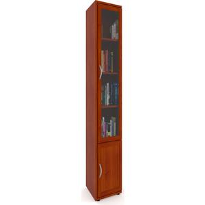 Шкаф Мебельный двор ШК-13 секция переходная со стеклянной дверцей яблоня