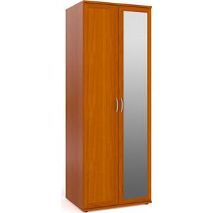 Шкаф для одежды и белья с зеркалом Мебельный двор ШК-2-Зерк яблоня шкаф для одежды с 3 мя ящиками два зеркала мебельный двор шк 3 зерк 2 дуб