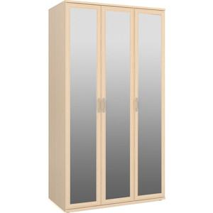 Шкаф для одежды и белья 3-х дверный с зеркалами Мебельный двор ШК-4-Зерк-3 дуб