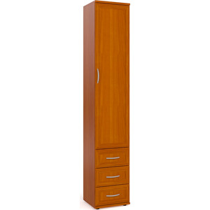 Шкаф-пенал для белья с 3-мя ящиками Мебельный двор ШК-6А вишня