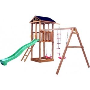 Детская площадка Красная звезда Можга Спортивный городок 1 с качелями (крыша тент) СГ1-Р912-Тент